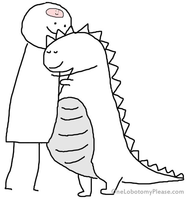 hug your dino
